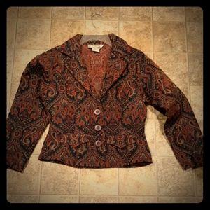 Southwest Canyon Women's 3 Button Blazer. Size M